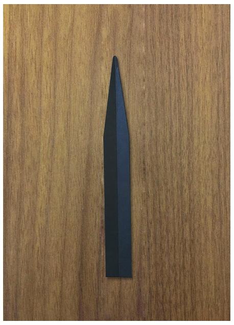 Modèle « Parfumeur » - Format 20 x 160 mm (bout arrondi avec rainage) 1000 Ex.